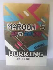 MAROON 5 BACKSTAGE PASS Red Pill Blues tour 2018 working pass NEW unpeeled