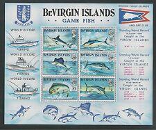 BRITISH VIRGIN ISLANDS # 248a GAME FISH Souvenir Sheet
