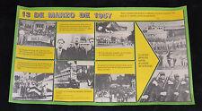 1989 Cuban Original Poster.History propaganda.Communist army publication art