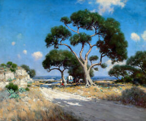 Texas Landscape Oil Painting Giclee Printed on canvas 16X20 inches L1722