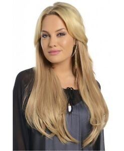 KOKO three piece STRAIGHT clip in hair extensions 24 inch Heat Resistant 3 piece