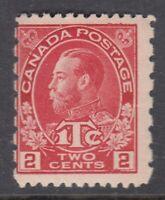 """Canada MINT OG Scott #MR5i 2 cent + 1 cent PERF 12x8 DIE I  """"War Tax""""  F **"""