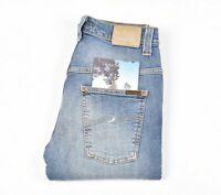 Nudie Jeans Dünn Finn Ausschreibung Blues Blau Herren Jeans IN Größe 31/32