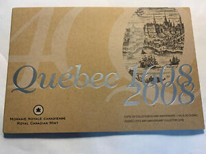 2008 Canada Quebec City 400th Anniversary Collector Card + Comm Coin  And $2