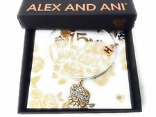 Alex and Ani Quinceanera Bangle Bracelet Two Tone New With Tag Box Card