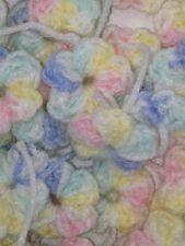 25 Tiny Crochet Flower Embellishments Baby Pastels