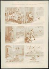 1894 Antique Print - CHRISTMAS DECORATIVE CHILDREN JACK HORNER CAKE (255)
