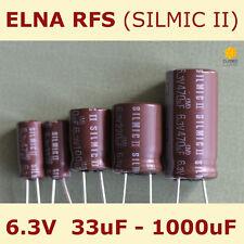 ELNA  RFS  SILMIC II  AUDIO Kondensator 33uF 50V 10x16  85°C RM5  NEW 1 pc