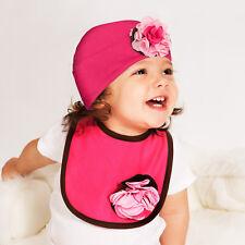 Baby Blossom Bib by Itty Bitty & Pretty in Strawberry Sundae