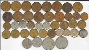 Old Coin Lot US Administration 41 Philippines 1-50 Centavos 1917-1964 (4 Silver)