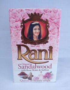 Rani Ayurveda Original Sandalwood Soap with Rose water and Saffron Ceylon 90 g