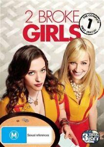 2 BROKE GIRLS (COMPLETE SEASON 1 - DVD SET SEALED + FREE POST)