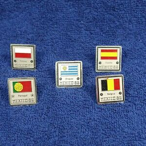 Vtg pin Rare Hat 1986 World Cup Mexico Pin badge X5