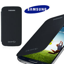 Genuine Samsung Galaxy S4 i9500 Protective EF-F1950 Black Flip Cover Screen Case