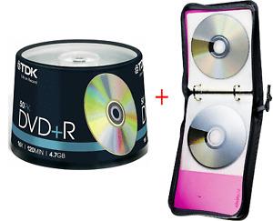 OPENED TDK T19444 16x DVD+R 50 Piece Cakebox + ZIPPER20