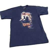 Vintage Star Wars Return Of The Jedi Tee Shirt Blue Size M