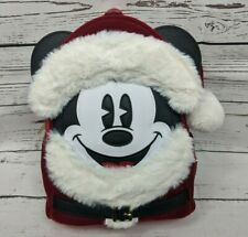 Disney Loungefly Santa Mickey Mouse Backpack New With Tags