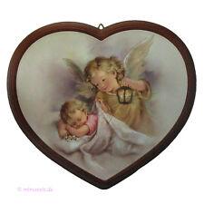 Bild Herz Hl. Schutzengel und Kind, Baby mit Engel, Geschenk zur Taufe, Geburt