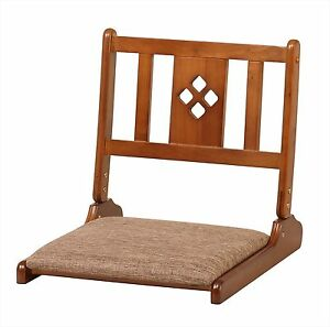 koeki GZ515 folding seat chair Brown Home Interior Tatami Natural Wood JAPAN