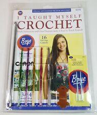 Boye I Taught Myself To Crochet #6397 Kit Book, Hooks, Markers & Bobbin