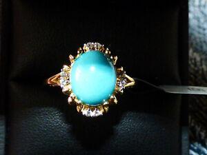 Beautiful Sleeping Beauty Turquoise Halo Ring