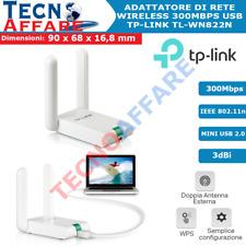 Adattatore di rete Wireless USB Doppia Antenna 300Mbps WiFi Tp-Link TL-WN822N