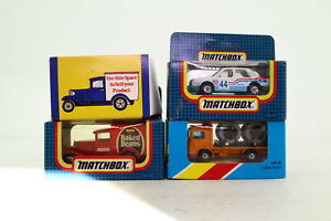 Matchbox Bargain Box; 2x Model A, Cable Truck, Skoda Rally; Very Good Boxed