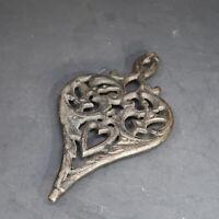 "Vintage WILTON Small Cast Iron Trivet Heart Shape 9.25"" x 5.25"""
