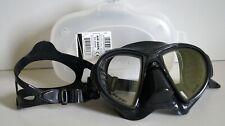 New listing Cressi Air Dark DS 405050 Scuba Diving Mask, Black / Black