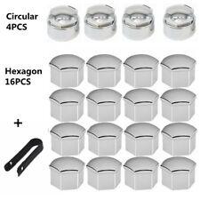 20x 17mm Chrome ALLOY CAR WHEEL NUT BOLT COVERS CAPS For Ford Peugeot Citroen VW