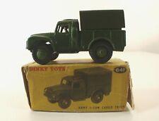 Dinky Toys GB n° 641 1-ton Army cargo wagon camion militaire jamais joué boîte