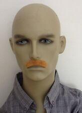 Rubio Oscuro corto vestido elaborado bigote. Auto adhesivo. envío Reino Unido