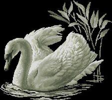 White Swan - Cross Stitch Chart - FREE POST