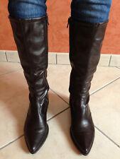 Paire de bottes hautes marron foncé taille 38 comme neuve