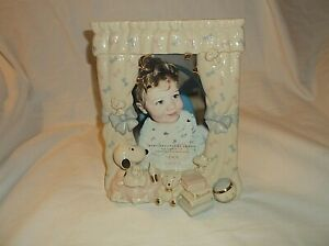 """Lenox Baby SNOOPY Woodstock Picture Frame 4"""" x 6"""" Pic"""