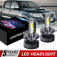 FOR TOYOTA HILUX 1995-2020 H4 Headlight CONVERSION Kit LED BULLET BULBS WHITE X2
