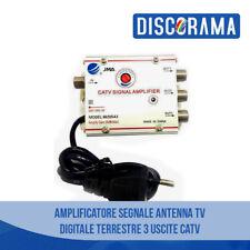 AMPLIFICATORE SEGNALE ANTENNA TV DIGITALE TERRESTRE 3 USCITE CATV