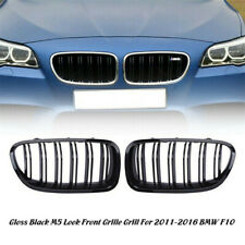 Matte Black Front Kidney Grille for BMW F10 F11 535i 550i 528i M5 2010-2017 4D