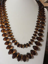 2005 JOAN RIVERS DARK AMBER LUCITE NECKLACES 2 pc set