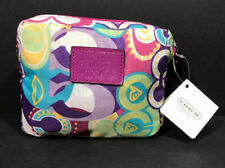 COACH Signature Sis Print Multicolor Packable Folding Tote Shopping Bag NWT