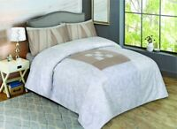 100% COTTON DUVET COVE SET, 300TC SET WITH FITTED SHEET & PILLOW CASES