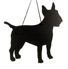 "English Bull Terrier Dog Gift - Unique 12"" Handmade Dog Breed shaped Chalkboard"