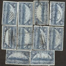Stamps Canada # 202, 5¢, 1933, lot of 10 used stamps.