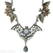 Kirks Folly Bewitching Bats Seaview Moon and Labradorite Necklace ~Lavender Moon