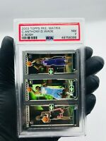 2003-04 Topps Rookie Matrix Dwyane Wade Carmelo Anthony Chris Bosh RC PSA 7