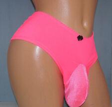 Hot Pink Lace  SISSY POUCH PANTIES Crossdress for Men Sz 32-52  2X