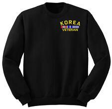 Law Enforcement Military KOREA VETERAN SWEATSHIRT PULLOVER BLACK