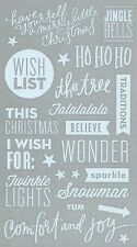 ASSORTED STICKERS  - 19 WHITE PVC QUOTES - CHRISTMAS - JOY TO THE WORLD