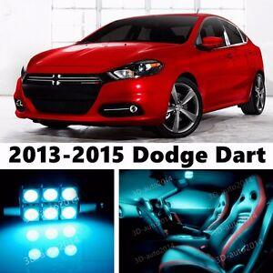 13pcs LED ICE Blue Light Interior Package Kit for Dodge Dart 2013-2015