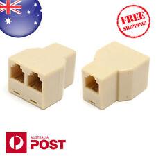 Rj11 6p4c 1 to 2 Female Plug Telephone Line Splitter Connector Aus Postage Z080